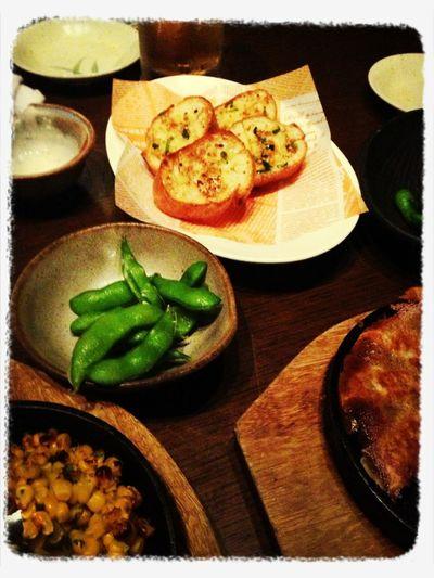 Garlic Bread & Edamame