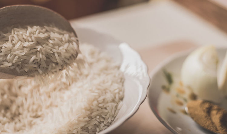 basmati rice and curry Basmati Rice Bowl Close-up Curry Day Food Food And Drink Freshness Healthy Eating Indoors  No People Onion Ready-to-eat Rice