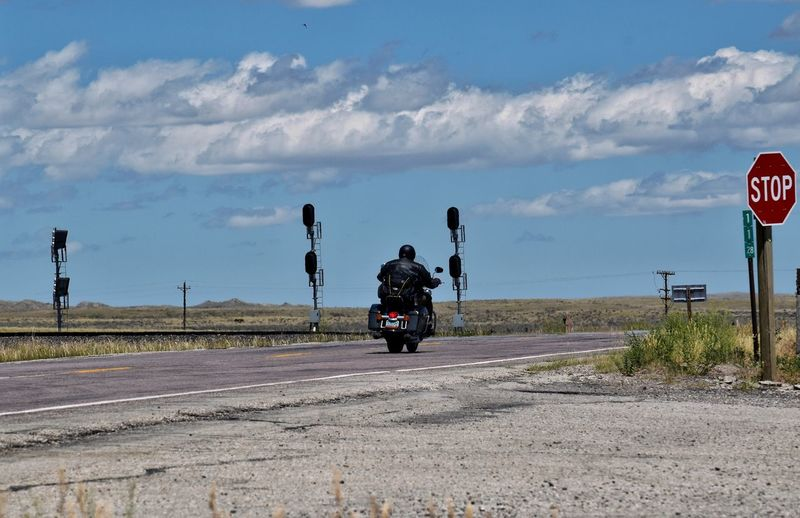 People on road against sky