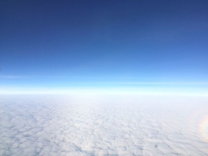 Horizon above the Cloud. Horizon Cloud Blue Blau Und Weiß White Sky Collection Space Himmel Airplane No People Scenics Flying Cloudscape Clearing Aerial View Perfect Beautiful Morning EyeEm Best Shots Above Above The Clouds BestofEyeEm Rainbow Rainbowcircle Circle
