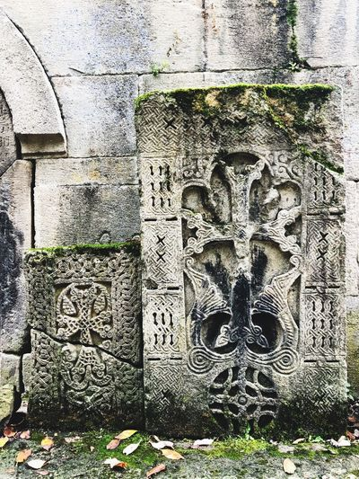 Old Armenian cross-stones (khachkars) Stone Carving Cross Khachkar Armenian Monastery Armenian Church Christianity Spirituality EyeEmNewHere Armenia Dilijan Architecture Wall - Building Feature Outdoors Plant Art And Craft Nature EyeEmNewHere