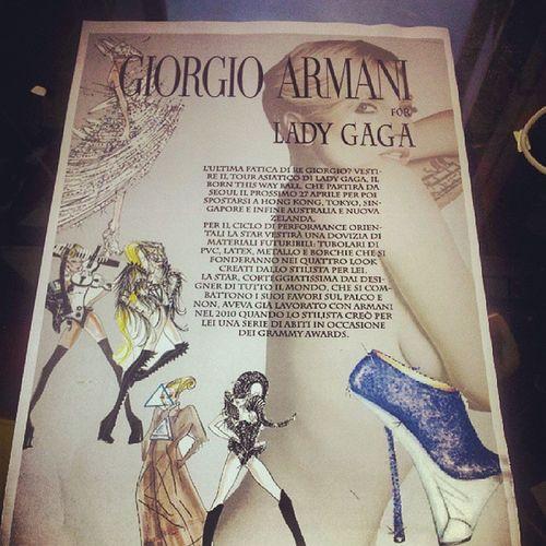 Pagina pubblicitaria... GIORGIOARMANI for LADY GAGA Moda CAD Accademia Italiana primoprogettoadobe illustrator