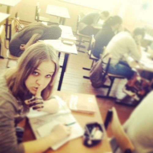 Boring Lesson Activity School With My Classmates I Need Sleep