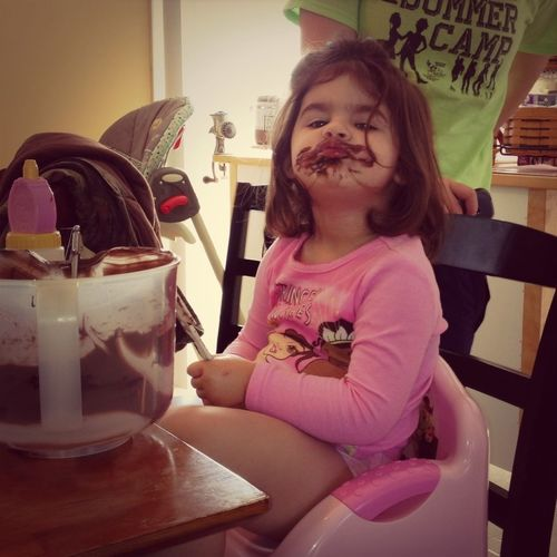 Baby chocolate duck face