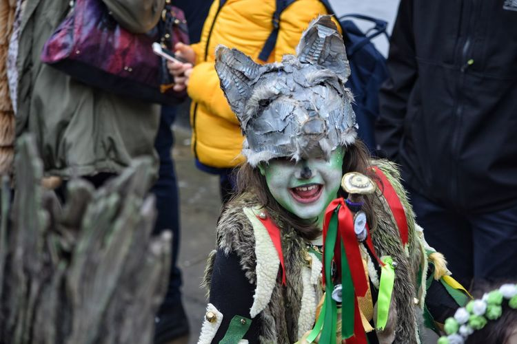 Jack In The Green Festival Jack In The Green May Day 2017 Hastings May Day East Sussex Outdoors Smiling Happiness Real People Close-up Child Headdress Happiness Pagan Festival Green Plant Mask - Disguise Carnival - Celebration Event Standing Focus On Foreground Traditional Clothing Freshness Street Celebration