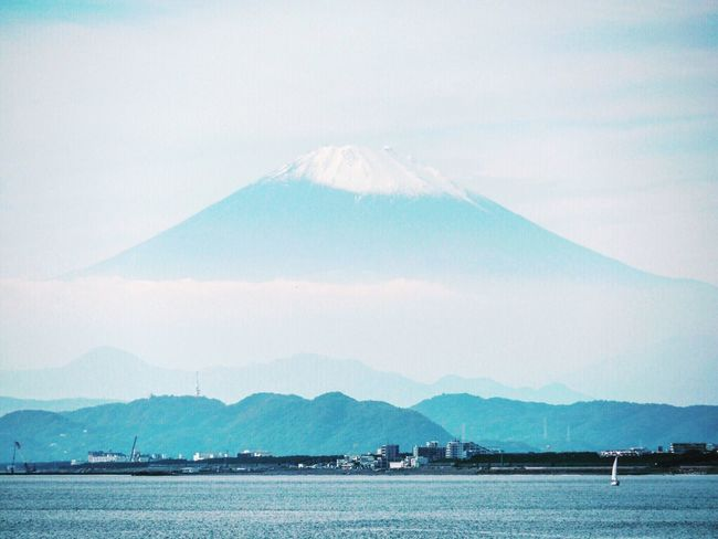 Mountain Mountain Range Tranquil Scene Sky Tranquility Scenics Distant Cloud - Sky Nature Outdoors Blue Seaside Mountain Fuji Fujiyama Skyline Landscape Japan Calm Taking Photos EyeEm EyeEm Gallery EyeEM Photos Nature Beauty In Nature Sea