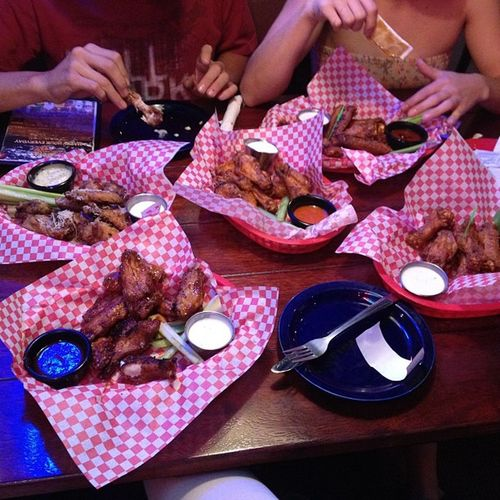 We are so doing this right now. Wings Fatwillys