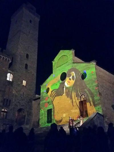 Lumière 2015 in San Gimignano Luciombre Sglumiere2015