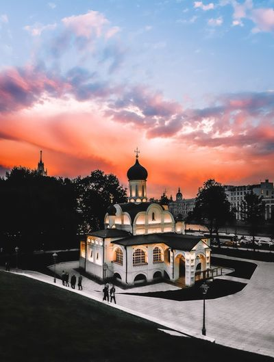 Architecture Building Exterior Built Structure Sky Sunset Building Cloud - Sky Nature Place Of Worship Religion Dome History Belief Travel Destinations Travel Spirituality The Past City Tourism No People