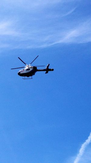 Hems Helicopter Emergency Services Ambulance Ambulance Service Blue Sky Wispy Clouds Air Ambulance  Kent Air Ambulance