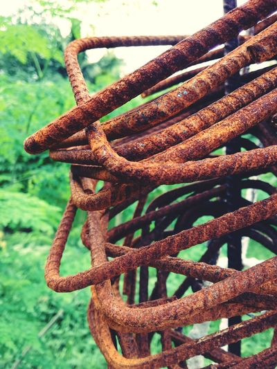 Iron - Metal Rusty Metal Rusty Things No People Outdoors Close-up Day Intertwined P9LitePhilippines Huaweiphotography