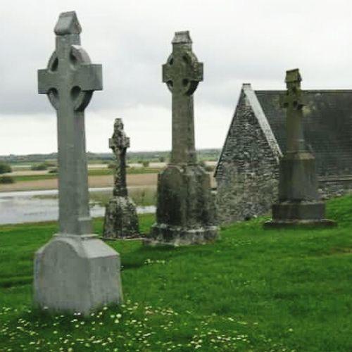 Ireland🍀 Beauty In Nature Fragility Tranquil Scene Vanishing Point Ruins Still Beautiful Celtic Cross Celtic Legends Irish Countryside