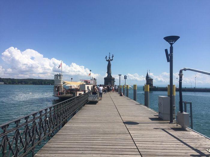 Konstanz/Konschdanz Sky Water Sea Nature Street Light Pier The Way Forward