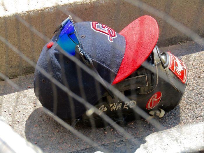 Gwinnett Braves Baseball Milb Baseball Cap Baseball Glove Oakley Sunglasses Behind The Net Dugout No People Outdoors Rawlings GO HARD Custom Gear