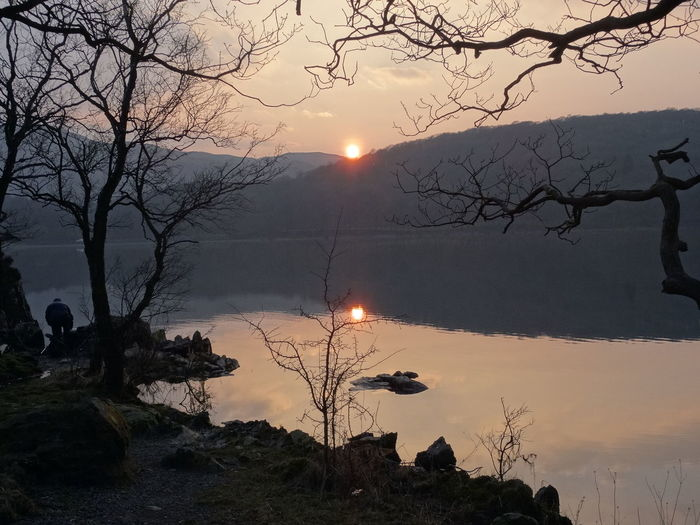 The day is ending Lake District National Park Bare Tree Beauty In Nature Branch Day Landscape Mountain Nature No People Outdoors Scenics Silhouette Sky Sun Sunlight Sunset Tranquil Scene Tranquility Tree