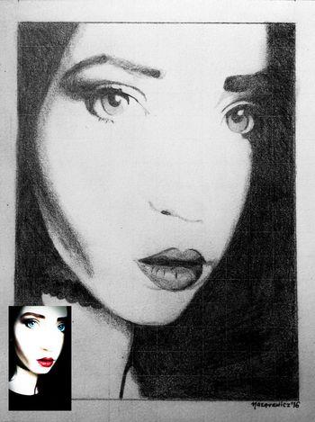 Portret mojej dziewczyny, wykonany ołówkiem i dużą porcją miłości. Portret Portrait Portrait Of A Woman Rysunek Ołówek Szkic