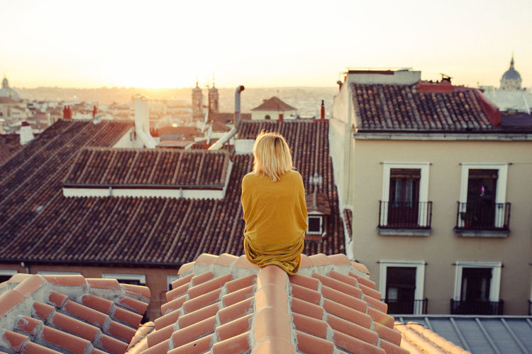 Longgoodbyes EyeEmNewHere Rear View Architecture Built Structure Building Exterior Women One Woman Only Roof People One Person Adults Only Only Women Day Adult Cityscape Outdoors Sky
