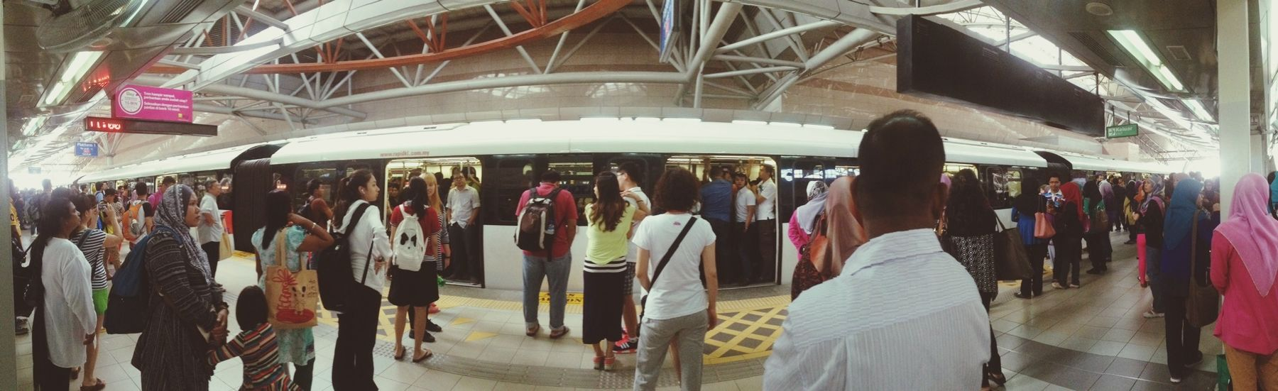 So crowded last time, this happen when i went out with my mom,miss my mom already.i hope i can meet u in indonesia soon! Public Transportation Panoram-art