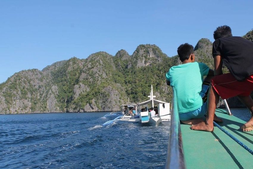 tugging the both all the way 4th Anniversary  EyeemPhilippines Canonphotography Coron, Palawan 👍👌🏊☀😎☁🗾🏄⛅🌞