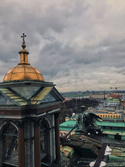 Cathedral Isaac's Cathedral Church Cloud - Sky Architecture Built Structure Sky Building Exterior No People Outdoors Nature City Day