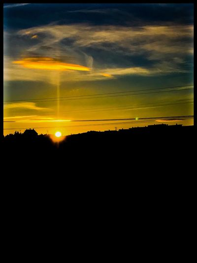 Sun setting early in the west off Norway Temprature Norway Sky Beauty In Nature Cloud - Sky Silhouette Sunset Tranquility Scenics - Nature Majestic Outdoors Landscape Environment Orange Color Yellow Idyllic Tranquil Scene Nature No People Horizon Dramatic Sky