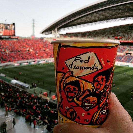 試合前に一杯♪ 氷結 Drinking Reds J1 soccer