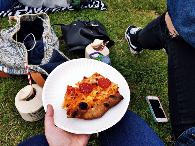 Festival Pizza Coconut Day Festival Foods Festival Season Food Grass Lifestyles Outdoors Person Pizza Unrecognizable Person Vans ShareTheMeal