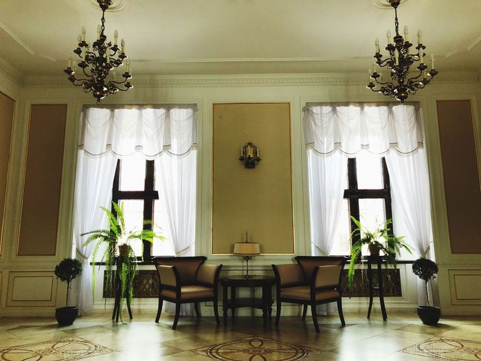 Indoors  Home Interior Table Chair Door No People Curtain Day Luxury Architecture