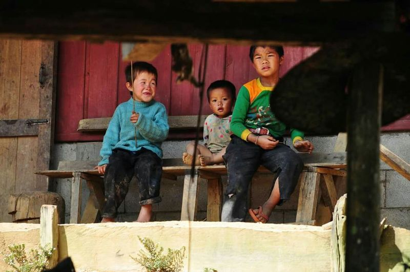 Boys Looking At Camera Childhood People Travel Laos Hmong Tribe Portrait Streetphotography Children