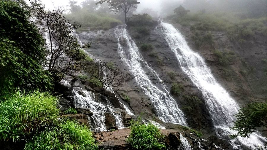 Waterfall Nature Beauty In Nature No People Outdoors Fog Grass Mountain EyeEmNewHere The Street Photographer - 2017 EyeEm Awards Tamhini Ghat