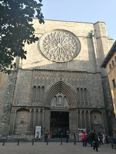 Architecture Building Exterior Santa Maria Del Pi Barcelona Old Buildings