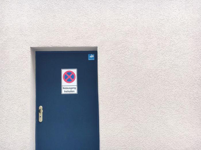 Emergency Exit Sign On Door