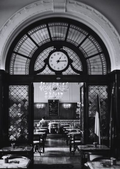 Firenze Bar Cafe Clock Time Indoors  Architecture Seat Built Structure Instrument Of Time Clock Face No People Transportation Rail Transportation Public Transportation Railroad Station Ceiling Day Table Chair Arch Mode Of Transportation Wall Clock Adventures In The City Focus On The Story The Traveler - 2018 EyeEm Awards The Photojournalist - 2018 EyeEm Awards The Street Photographer - 2018 EyeEm Awards