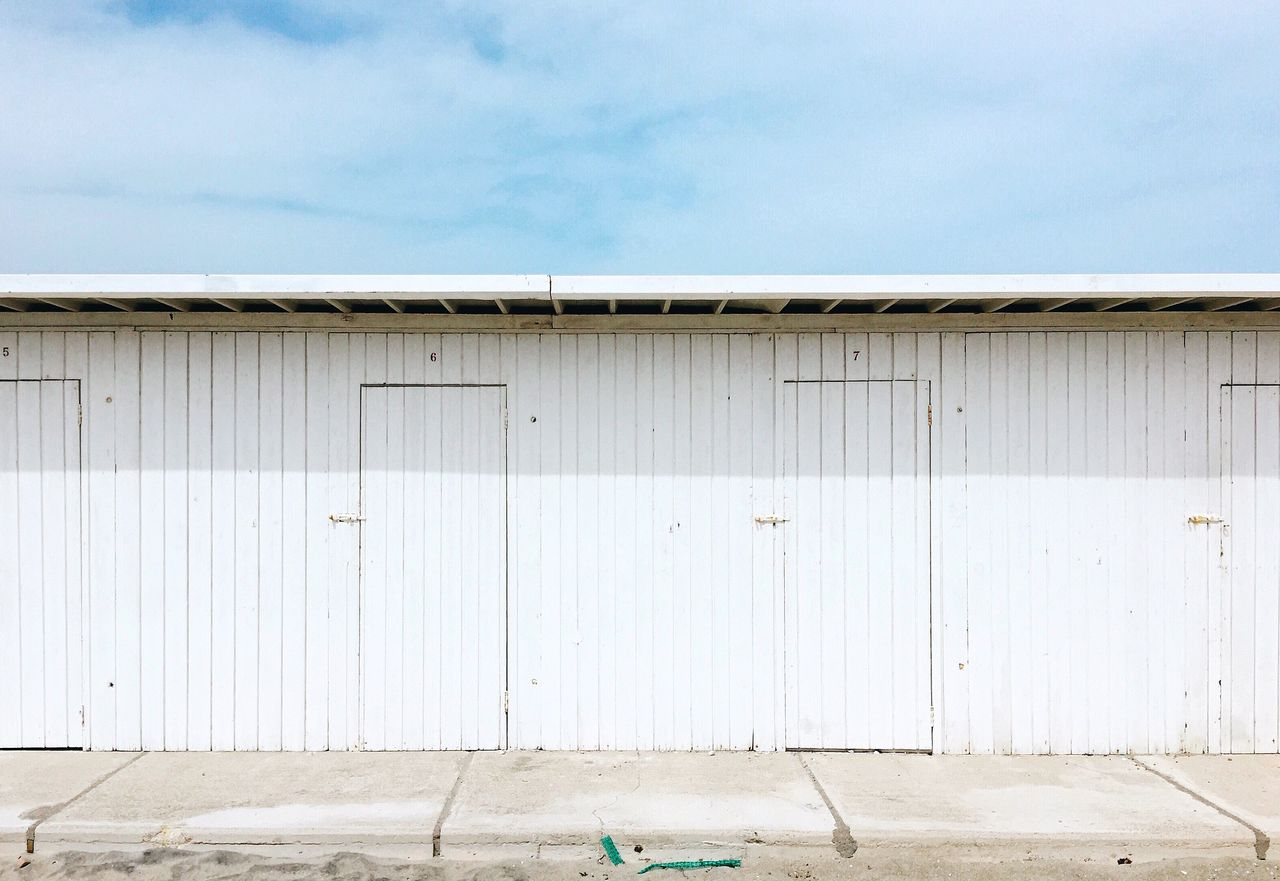 built structure, outdoors, day, architecture, no people, sky, building exterior, corrugated iron