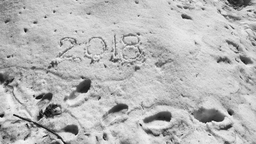 2018 traveller Writing On Snow Snow ❄ PhonePhotography Snowing Trekking Nature Love Snow Full Frame FootPrint Close-up