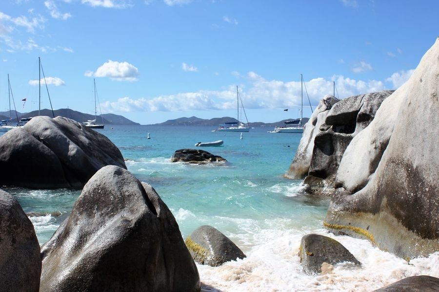 The Baths, BVI British Virgin Islands Caribbean Island Caribbean Sea Caribbean Beach The Baths Beauty In Nature Boulders Bvi Day Nature No People Outdoors Scenics Sky