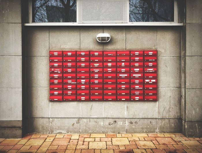 Mailbox Red No People Day Architecture Built Structure Outdoors Building Exterior