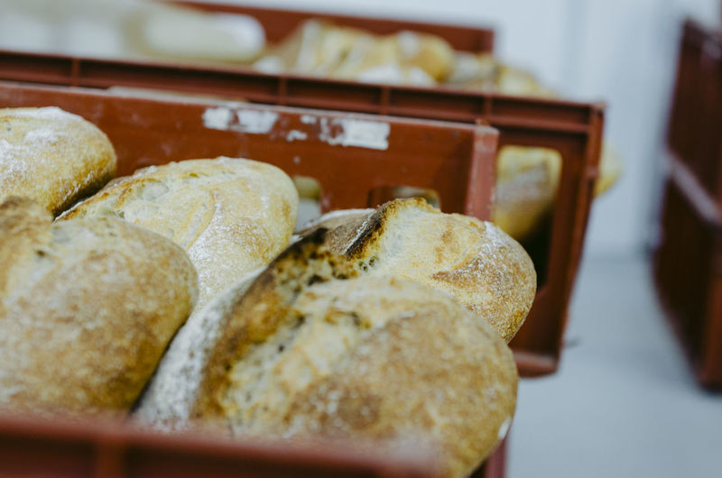 Food And Drink Food Bread Freshness Indoors  Close-up Selective Focus No People Wellbeing Healthy Eating Still Life Brown Container Meal Baked Store Table Ready-to-eat Focus On Foreground Toasted Bread Breakfast Tray Toast Dieting