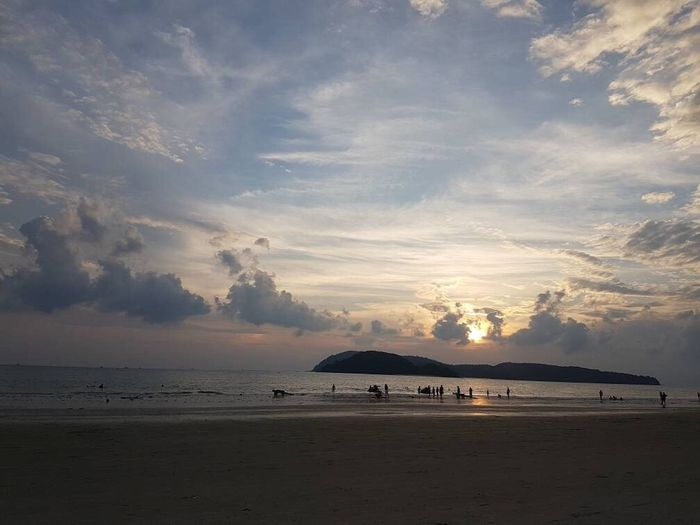 Beach Sea Sand Cloud - Sky Beauty In Nature Nature Sky Tranquil Scene Scenics Sunset Tranquility Water Horizon Over Water Outdoors Vacations No People Landscape Day Be. Ready.