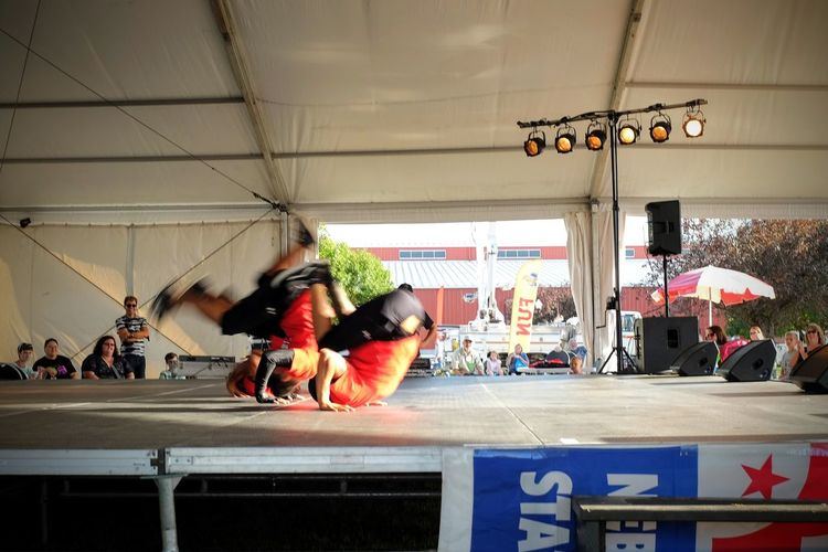 """Street Breakz"" Dancers Nebraska State Fair - Grand Island, Nebraska August 2016 Bboys Acrobatics  Break Dancing  Color Photography Dancing Daytime Dj Electric BooGaLoo Entertainment Eyeemphoto Funky Life In Motion Movement Nebraska Old School Party Time Performance Performing Arts Photography Photojournalism Professional Dancer Show Stage State Fair Tent Show"