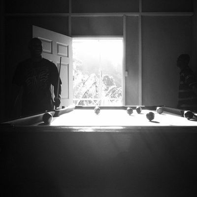 Silhouette Pool Snooker Islandlife Islandlivity IPhoneography Blackandwhite Noir Noirlovers Blancoynegro Popular