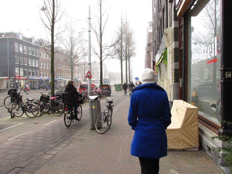 Amsterdam Streets Architecture Blue Jacket Blue Jacket Women Walking City Life City Moment Cold Day Mode Of Transport One Person Outdoors Real People Street Streetphotography Transportation Walking Walking On The Street Warm Clothing White Cap Women Walking