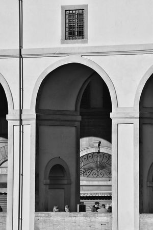 Archway Firenze Florence Italy Italy Black & White Black And White Monochrome The Best City In The World Light And Dark City View  Buildings River Arno Arch Architecture Built Structure Architectural Column Day Building Exterior Adults Only Adult People Outdoors