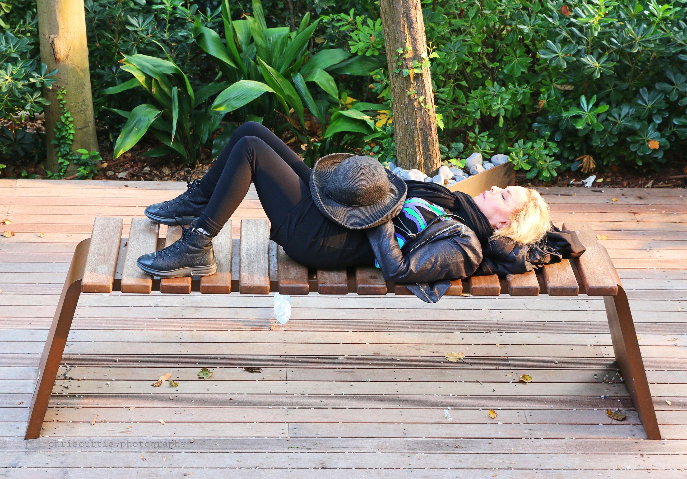 FULL LENGTH OF MAN SLEEPING ON SOFA
