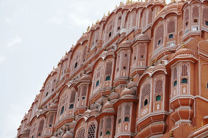 EyeEm Selects Jaipur Rajasthan Jaipur Tourist Place Hawa Mahal Traditional Architecture Getty Images Heat - Temperature Happiness Vacations Enjoy The Little Things Scenics Travel Place Of Worship Spirituality Low Angle View Tourism History Religion Travel Destinations Architecture Built Structure No People Day Outdoors Sky