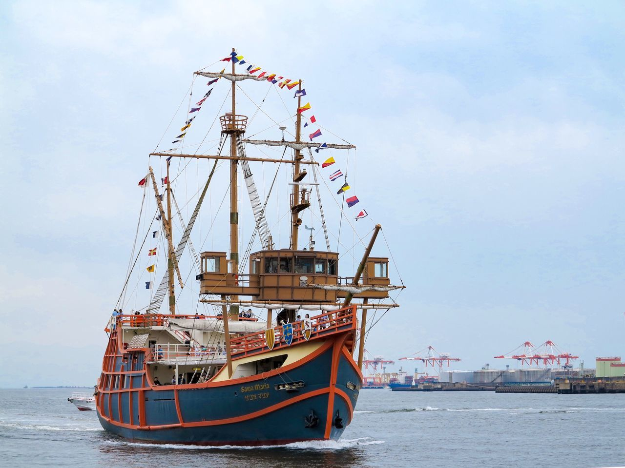 nautical vessel, transportation, mode of transport, sky, day, sea, no people, outdoors, cloud - sky, mast, moored, water, harbor, nature, tall ship, sailing ship
