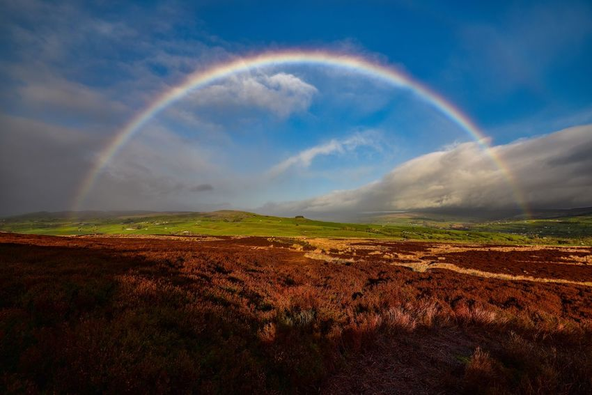 First time I've captured a full rainbow 🌈 Nature_collection Nature_perfection Clouds And Sky Eye4photography  EyeEmBestPics Countryside Nikonphotography Sky And Clouds Nature_ Collection  Teesdale Landscape_photography EyeEm Best Shots Hikingadventures Nature Photography Rainbow Beauty In Nature Environment Sky Landscape Scenics - Nature Tranquil Scene Tranquility Nature Cloud - Sky Land Multi Colored Outdoors