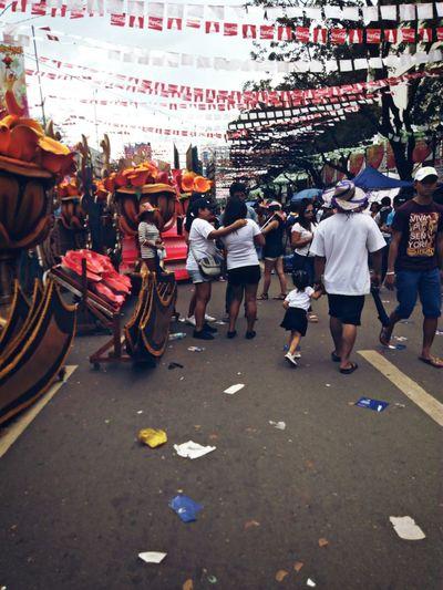 People During Sinulog Festival Cebu City, Philippines Celebration Party Grand Parade