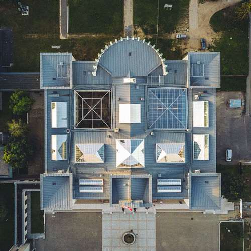 Čiurlionis National Museum of Art Drone  Aerial View Architecture Art Museum Building Exterior Built Structure Day Drone Perspective Mavic Pro Museum National Museum No People Outdoors Top Down View Tree