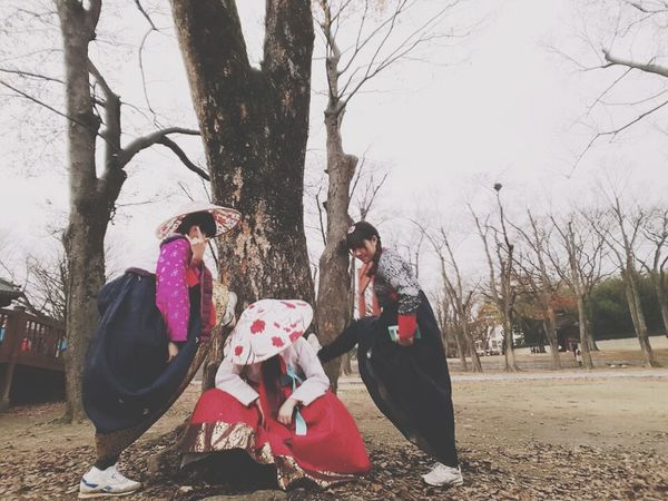 I'm in Jeonju ! wearing Korean Hanbok